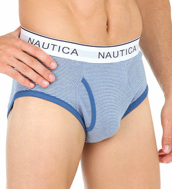 Nautica Assorted Striped Full Cut Briefs - 3 Pack