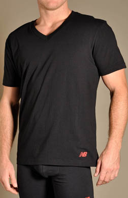 New Balance Essential V-Neck T-Shirts - 2 Pack