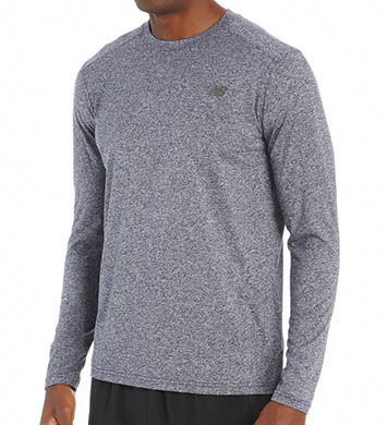 New Balance Long Sleeve Heather Tech Performance Tee