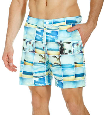 Original Penguin Photo Collage Volley Swim Short
