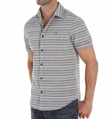 Original Penguin Short Sleeve Horizontal Stripe Woven Shirt