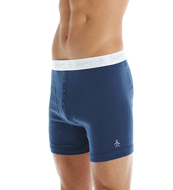 Original Penguin 100% Cotton Button Boxer Brief-3 Pack