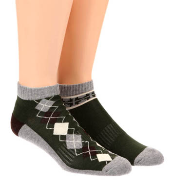 Pact Duffle Bag Fancy Shorty Socks - 2 Pack
