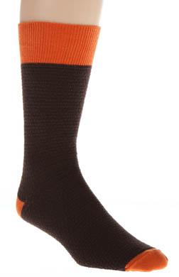 Pact Dark Chocolate Waffle Knit Crew Sock