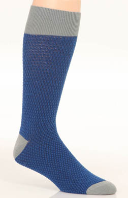 Pact Electric Blue Waffle Knit Crew Sock