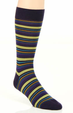 Pantherella Hayward 4 Colour Varied Stripe Sock