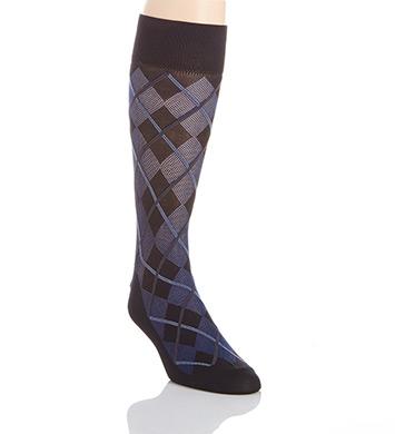 Perry Ellis Microfiber Luxury All Over Argyle Sock