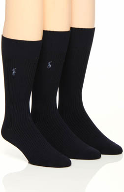 Polo Ralph Lauren Microfiber Rib Socks - 3 Pack