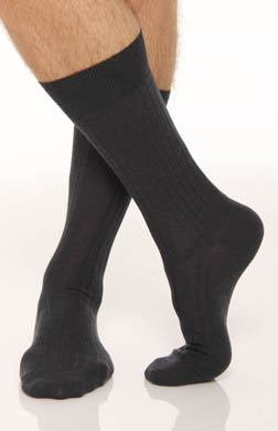 Polo Ralph Lauren Solid Rib Pima Cotton/Wool Dress Sock