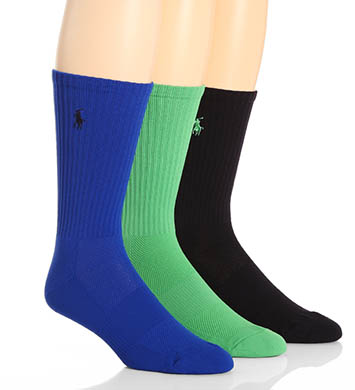Polo Ralph Lauren Tech Athletic Crew Socks - 3 Pack