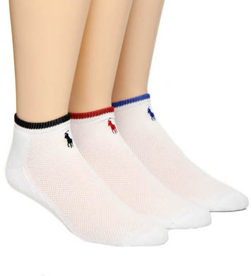 Polo Ralph Lauren Cotton Mesh Cushioned Ped Socks - 3 Pack