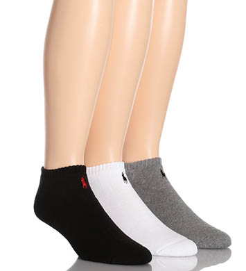 Polo Ralph Lauren Classic Cotton Sport Ped Socks - 3 Pack