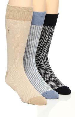 Polo Ralph Lauren Patterned Socks - 3 Pack