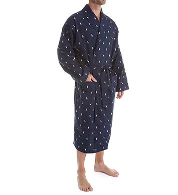 Polo Ralph Lauren Polo Play Print 100% Cotton Robe