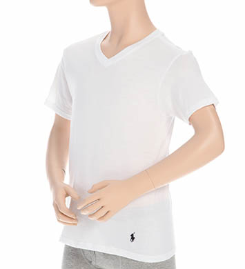 Polo Ralph Lauren Boys V-Neck Classic Cotton T-Shirt - 2-Pack