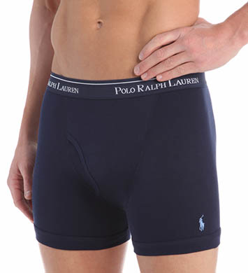 Polo Ralph Lauren Classic Fit 100% Cotton Boxer Briefs - 3 Pack