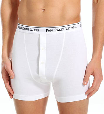 Polo Ralph Lauren Button Fly Boxer Briefs - 3 Pack
