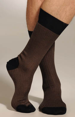 Punto Two Color Herringbone Sock
