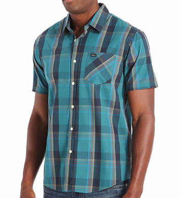 RVCA Goldy Short Sleeve Plaid Woven Shirt
