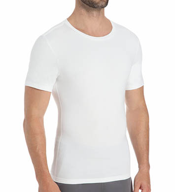 SPANX Cotton Compression Firm Control Crew Neck