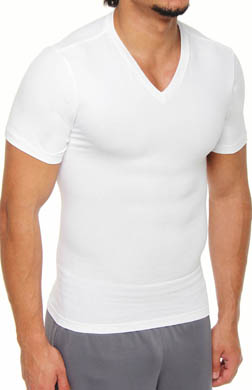 SPANX Easy Smoother Moderate Control V-Neck T-Shirt