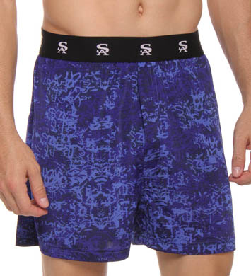 Stacy Adams Tonal Print Moisture Wicking Boxer Short