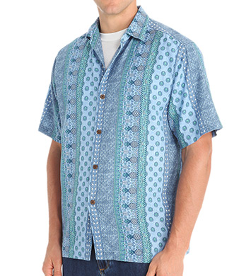 Tommy Bahama It's Luau Time Somewhere Cotton Silk Button Down