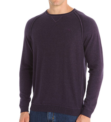Tommy Bahama Barbados Cotton Heather Long Sleeve Crew