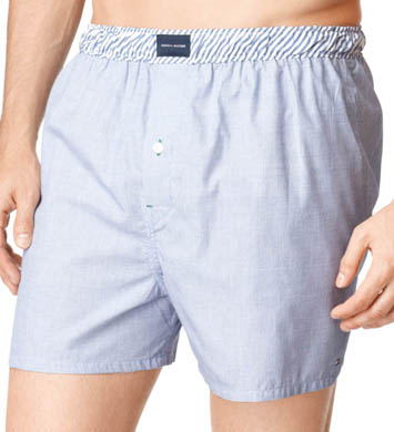 Tommy Hilfiger Basic Vineyard 100% Cotton Woven Boxer