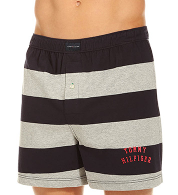 Tommy Hilfiger Rugby Stripe Basic 100% Cotton Knit Boxer