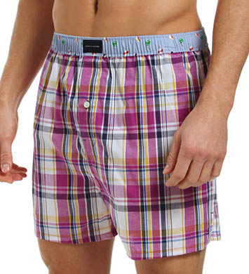 Tommy Hilfiger Monterey Plaid with Flags Woven Boxer