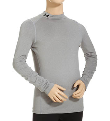 Under Armour Boys ColdGear Armour Fitted Mock Long Sleeve