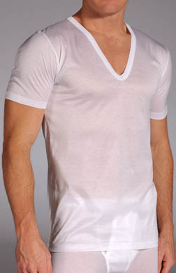 Zimmerli Royal Classic Deep V-Neck T-Shirt