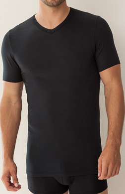 Zimmerli Pureness V-Neck Short Sleeve Shirt