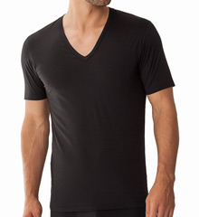 Zimmerli Pure Comfort V-Neck Short Sleeve Shirt 1721362