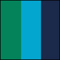 Green/Turquoise/Blue