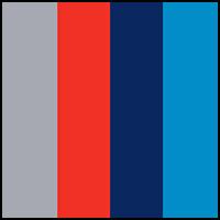 Grey/Blue/Scarlet