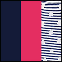Navy/Pink Stripe