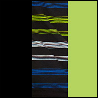 Stripe/Black/Lime