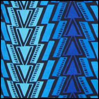 Hyper Blue Aztec Print