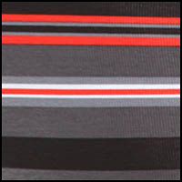 Black/Grey/Red Stripe