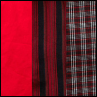 Plaid/Red/Black Stripe