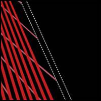 Black/Tango Red Swipe