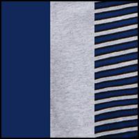 Grey/Navy Stripe