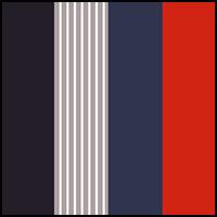 Blue/Red/Grey Stripe
