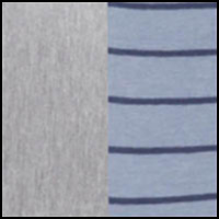 Grey Heather/Stripe