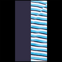 Navy/Turquoise/Stripe