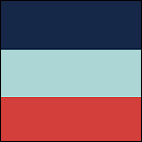 Blue/Coral/Light Blue