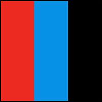 Black/Red/Turq