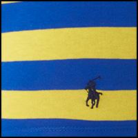 Yellow/Royal Stripe